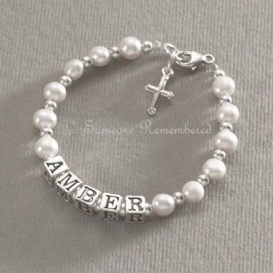 Any Name Pearl Memorial Bracelet | Someone Remembered